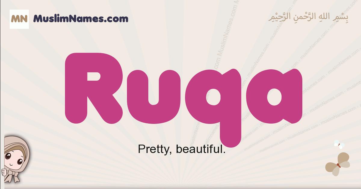 Ruqa muslim girls name and meaning, islamic girls name Ruqa