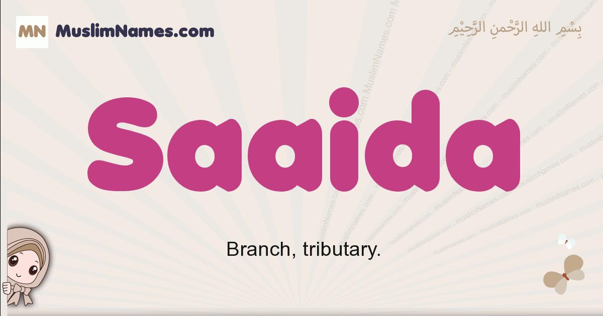 Saaida muslim girls name and meaning, islamic girls name Saaida