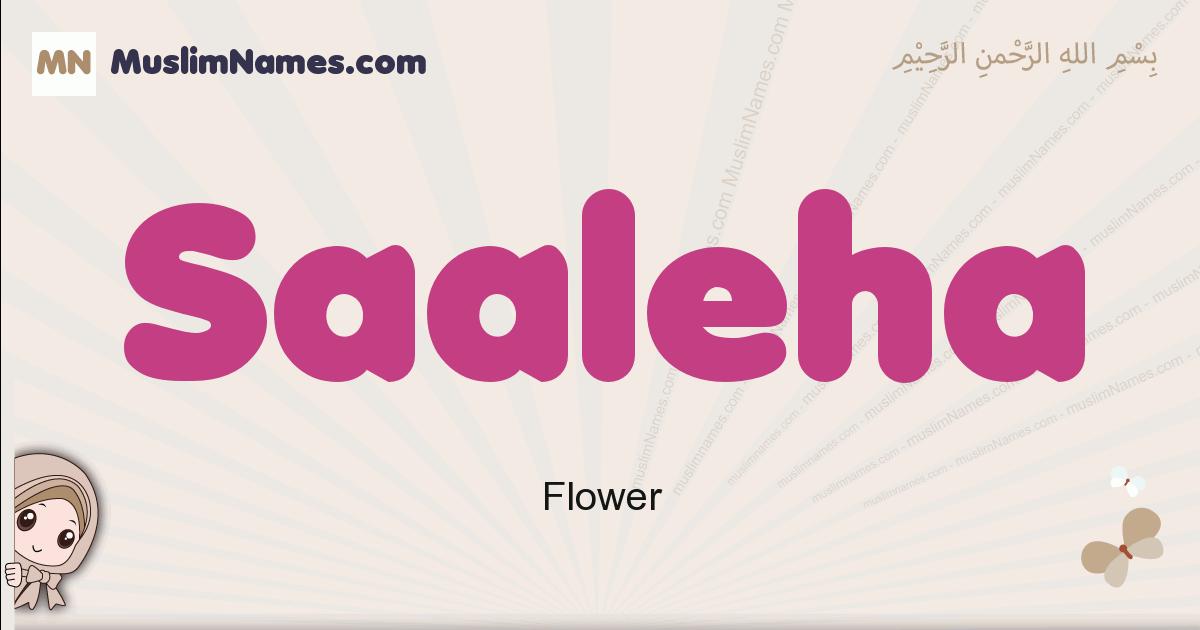Saaleha muslim girls name and meaning, islamic girls name Saaleha