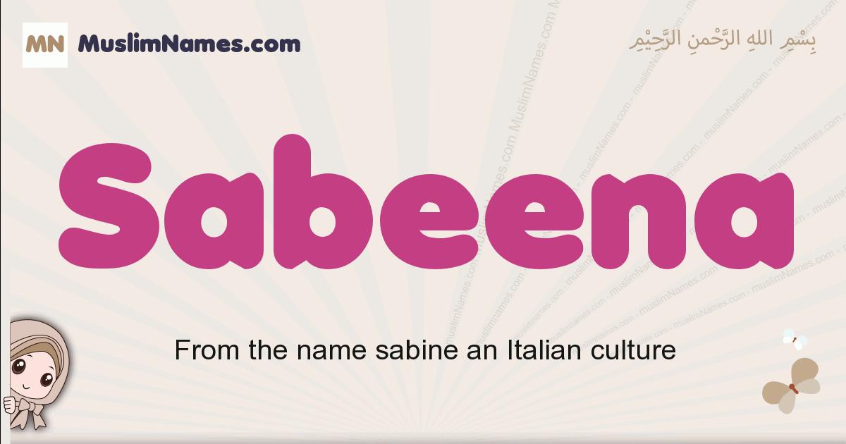 Sabeena muslim girls name and meaning, islamic girls name Sabeena
