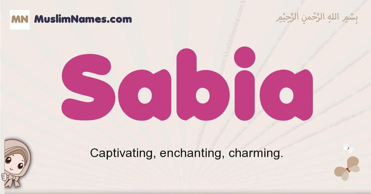 Sabia muslim girls name and meaning, islamic girls name Sabia