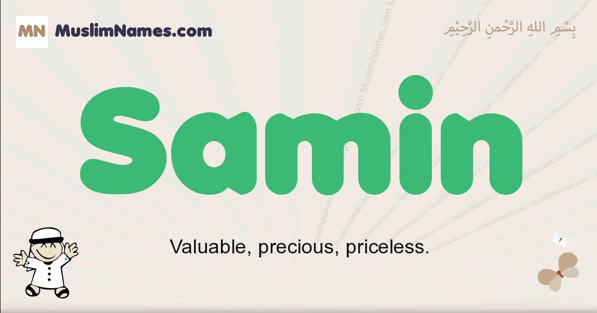 Samin muslim boys name and meaning, islamic boys name Samin