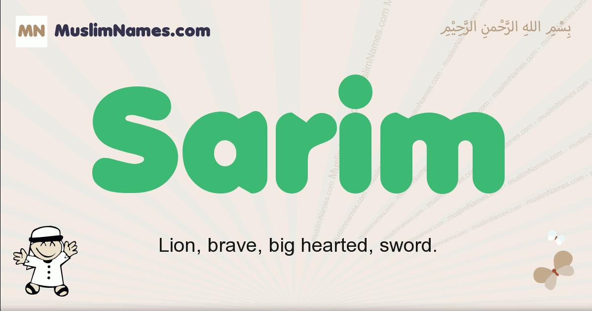 Sarim muslim boys name and meaning, islamic boys name Sarim
