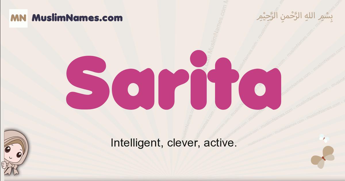 Sarita muslim girls name and meaning, islamic girls name Sarita