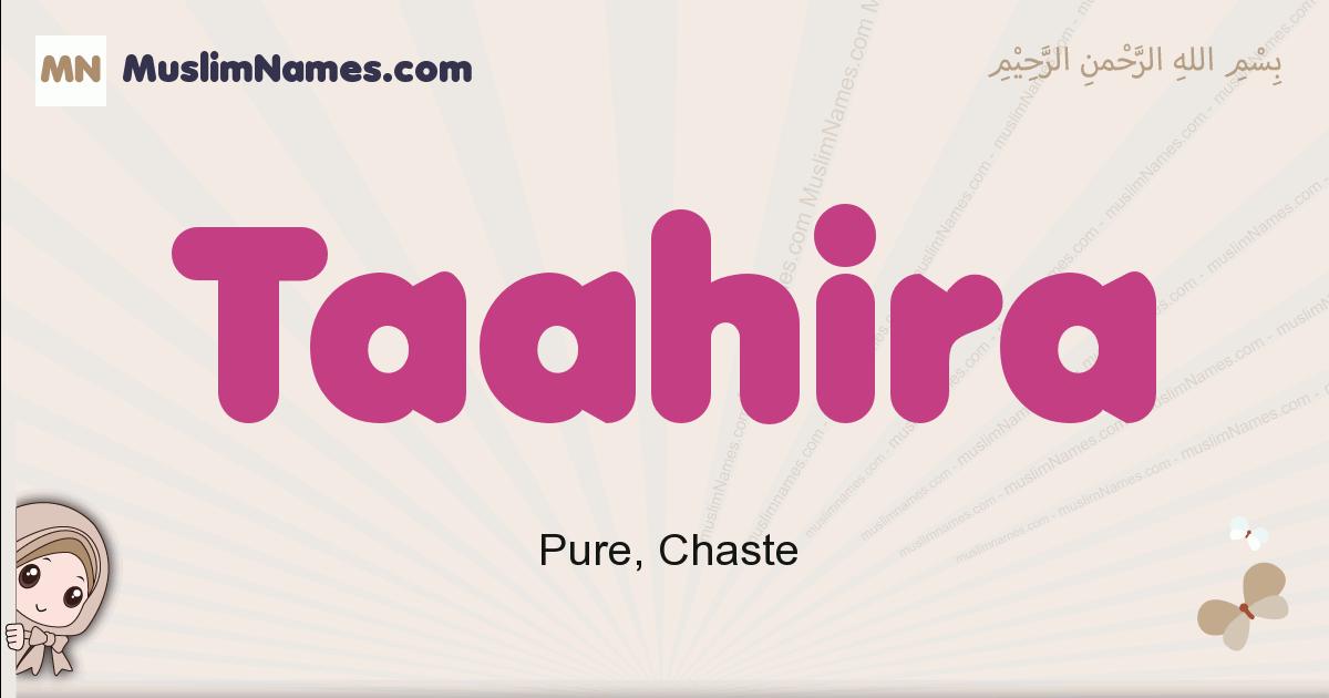 Taahira muslim girls name and meaning, islamic girls name Taahira