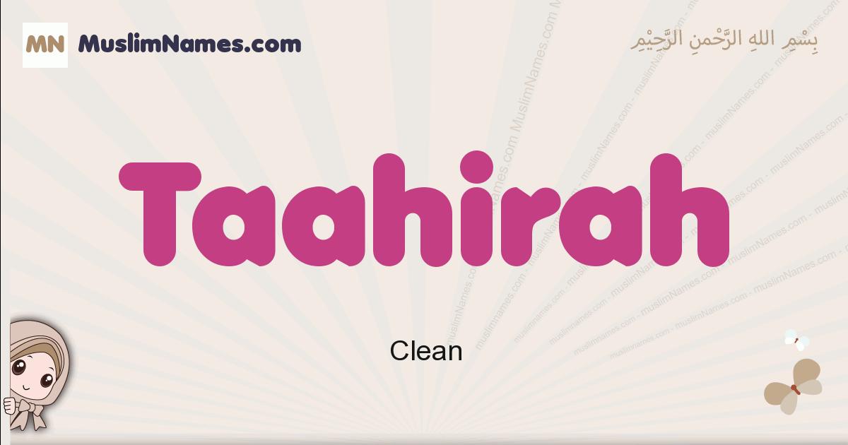 Taahirah muslim girls name and meaning, islamic girls name Taahirah