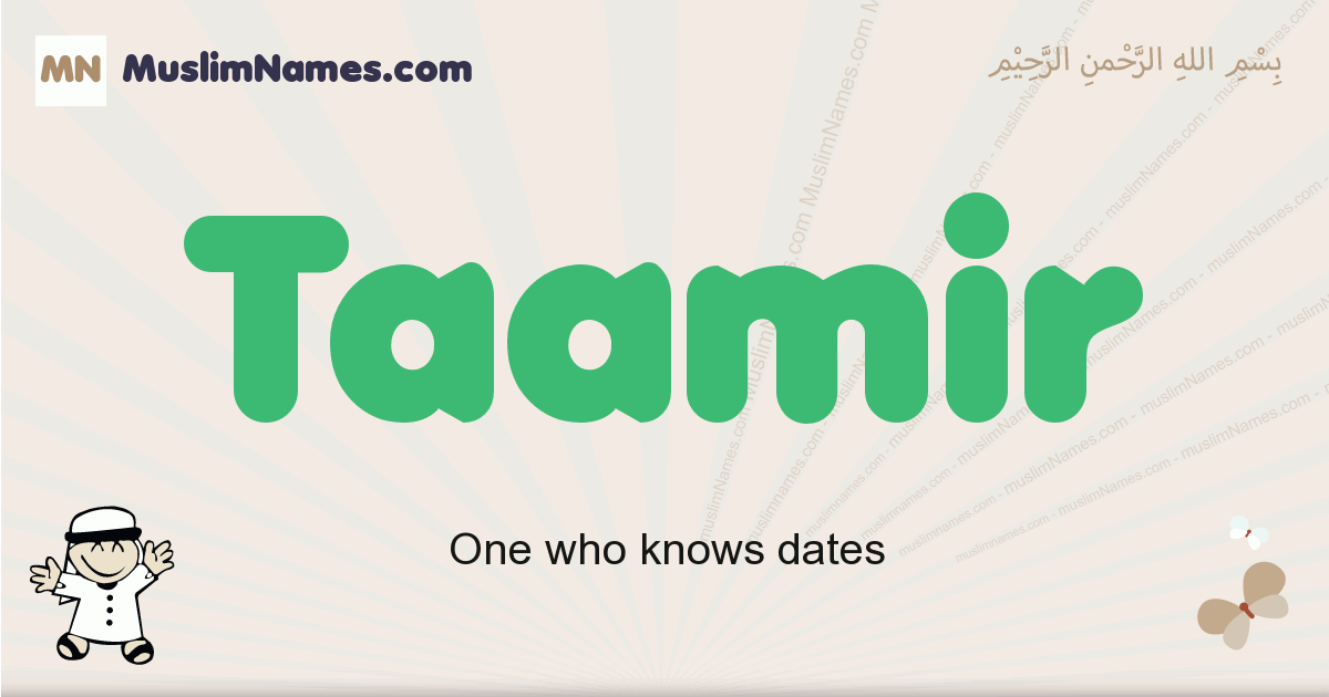 Taamir muslim boys name and meaning, islamic boys name Taamir