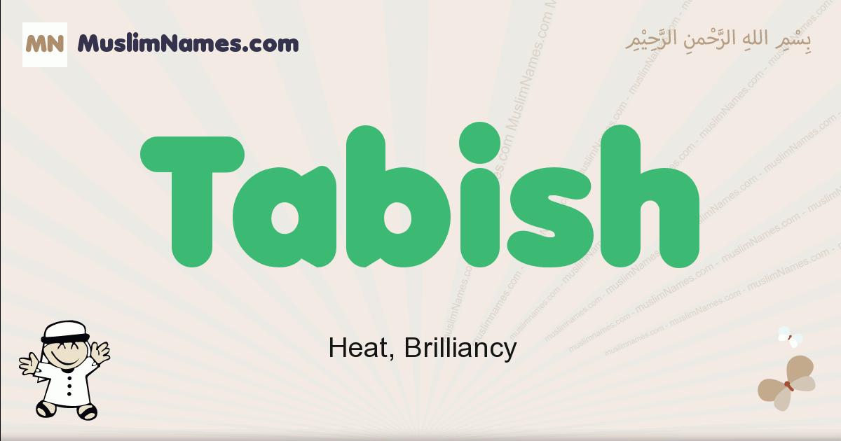 Tabish muslim boys name and meaning, islamic boys name Tabish