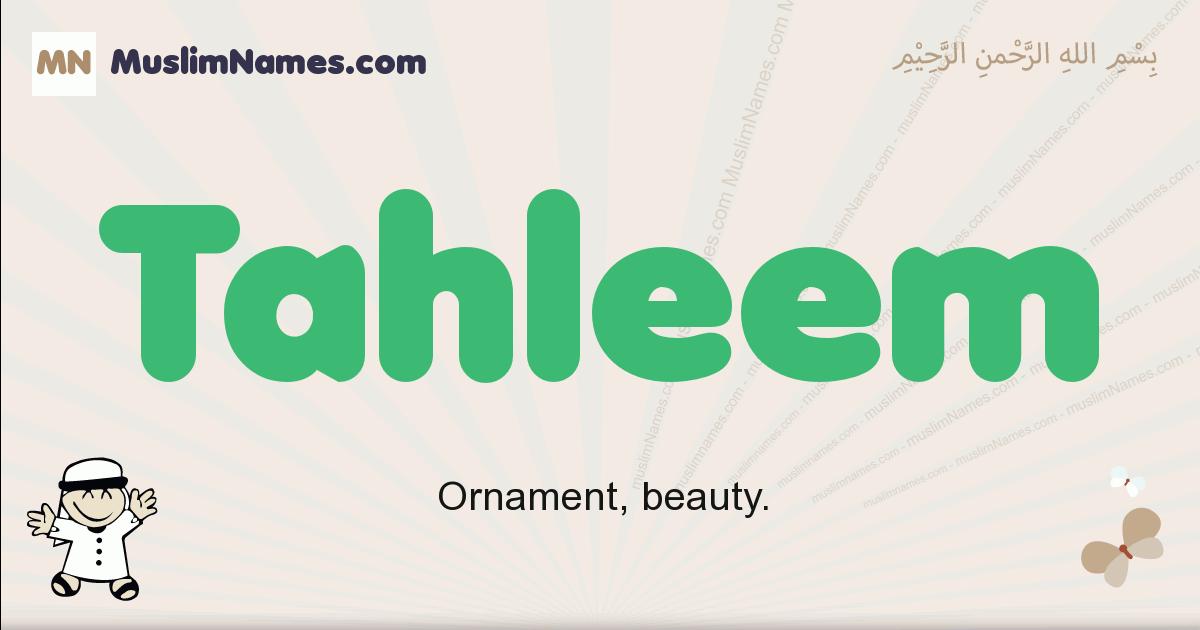 tahleem muslim boys name and meaning, islamic boys name tahleem
