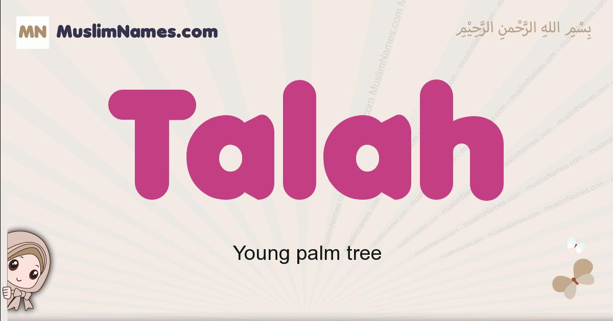 Talah muslim boys name and meaning, islamic boys name Talah