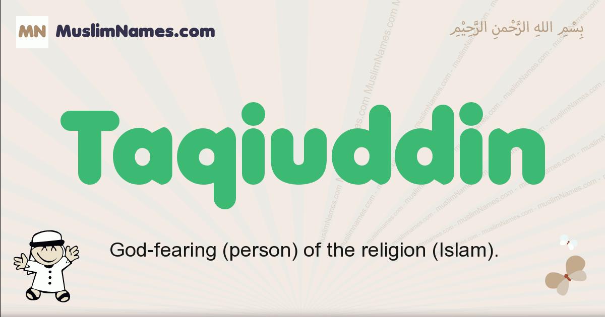 Taqiuddin muslim boys name and meaning, islamic boys name Taqiuddin