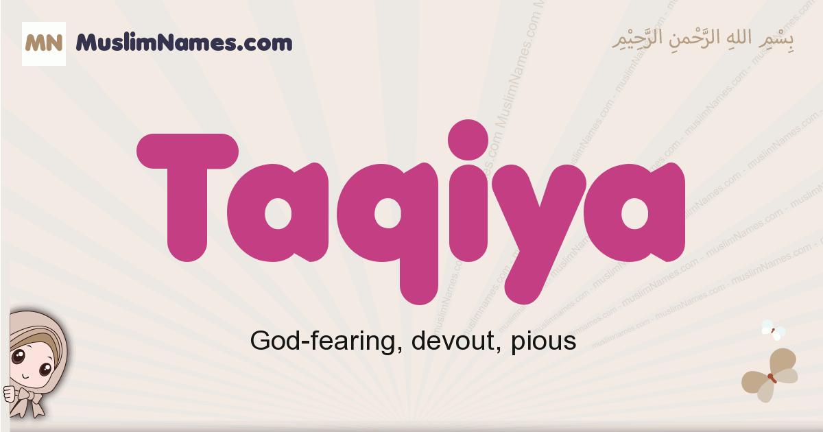 Taqiya muslim girls name and meaning, islamic girls name Taqiya