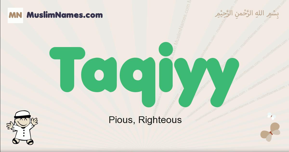 Taqiyy muslim boys name and meaning, islamic boys name Taqiyy