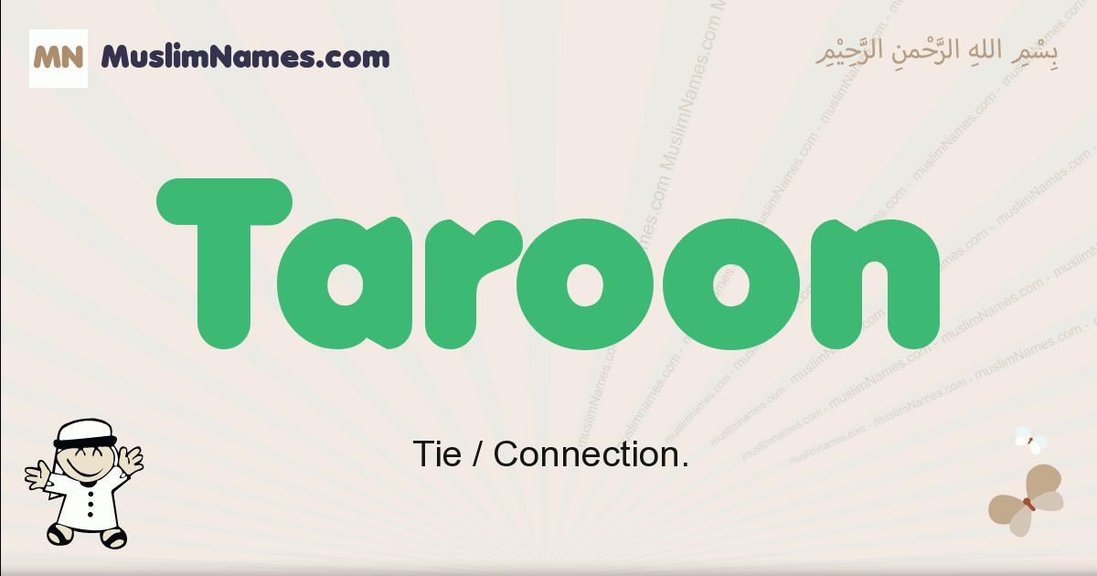 Taroon muslim boys name and meaning, islamic boys name Taroon