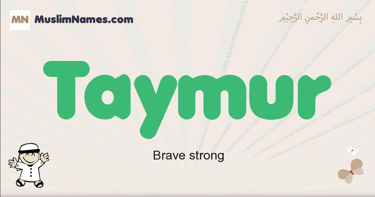Taymur muslim boys name and meaning, islamic boys name Taymur