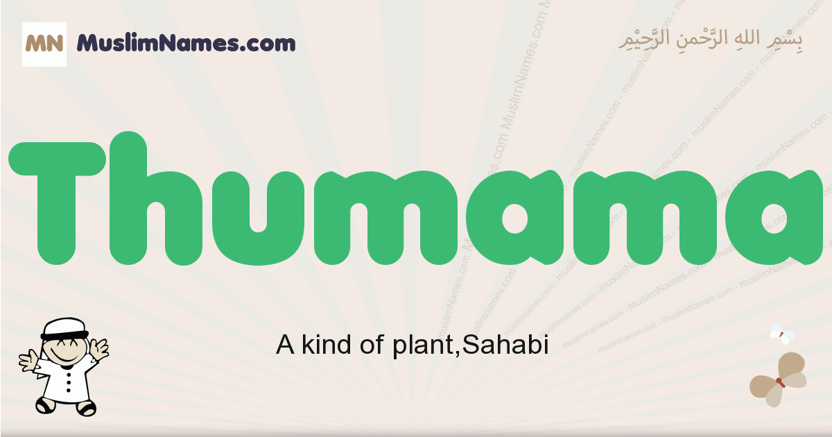Thumama muslim boys name and meaning, islamic boys name Thumama