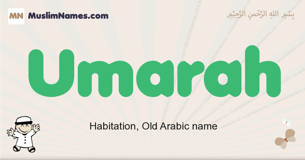Umarah muslim boys name and meaning, islamic boys name Umarah