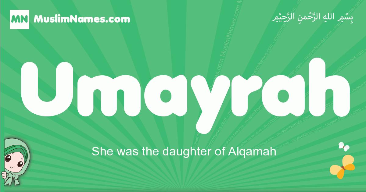 umayrah arabic girl name and meaning, quranic girls name umayrah