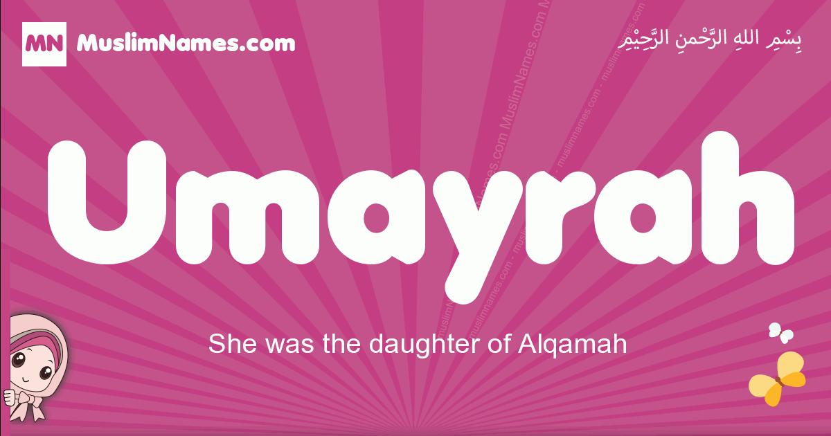 umayrah arabic girls name and meaning, muslim girl name umayrah