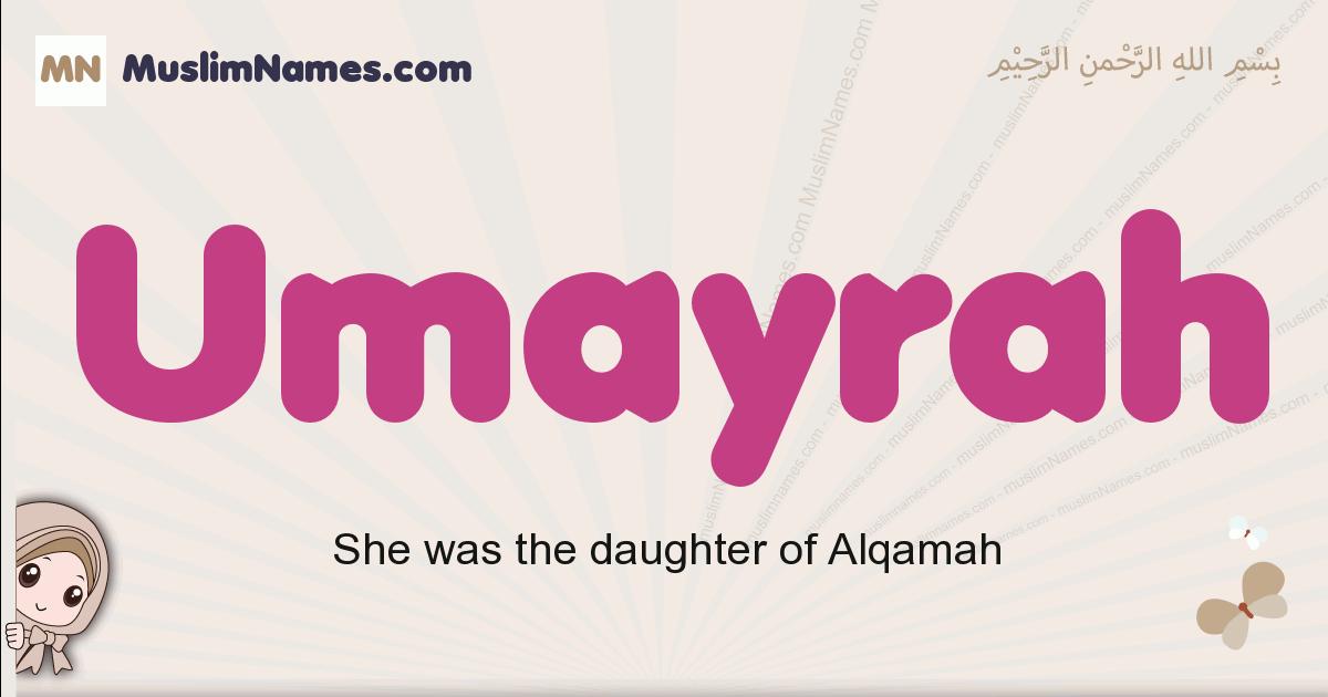 Umayrah muslim girls name and meaning, islamic girls name Umayrah