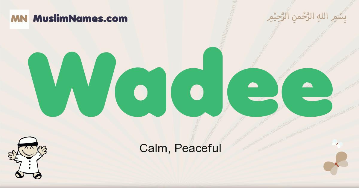 Wadee muslim boys name and meaning, islamic boys name Wadee