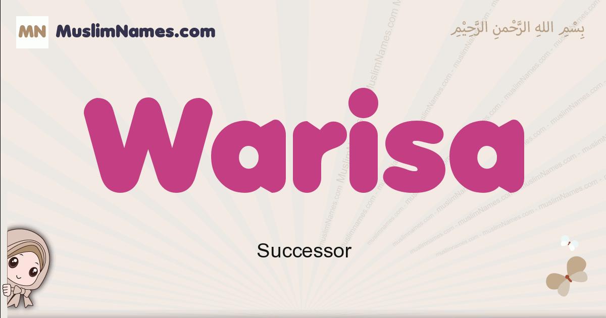 Warisa muslim girls name and meaning, islamic girls name Warisa