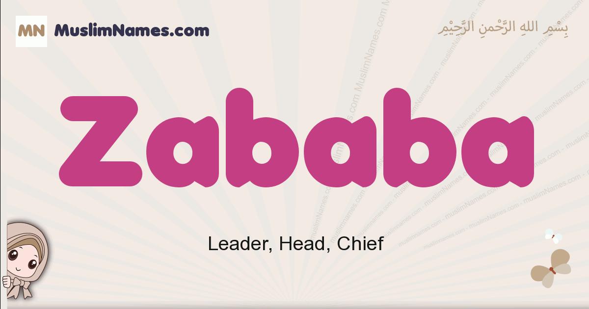 Zababa muslim girls name and meaning, islamic girls name Zababa
