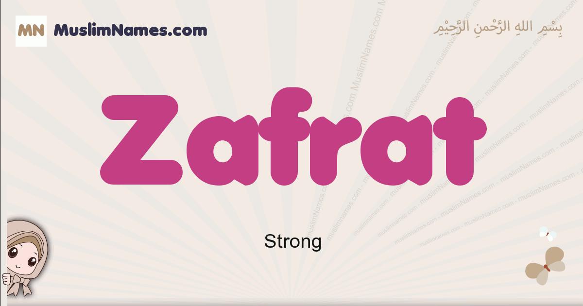 Zafrat muslim girls name and meaning, islamic girls name Zafrat