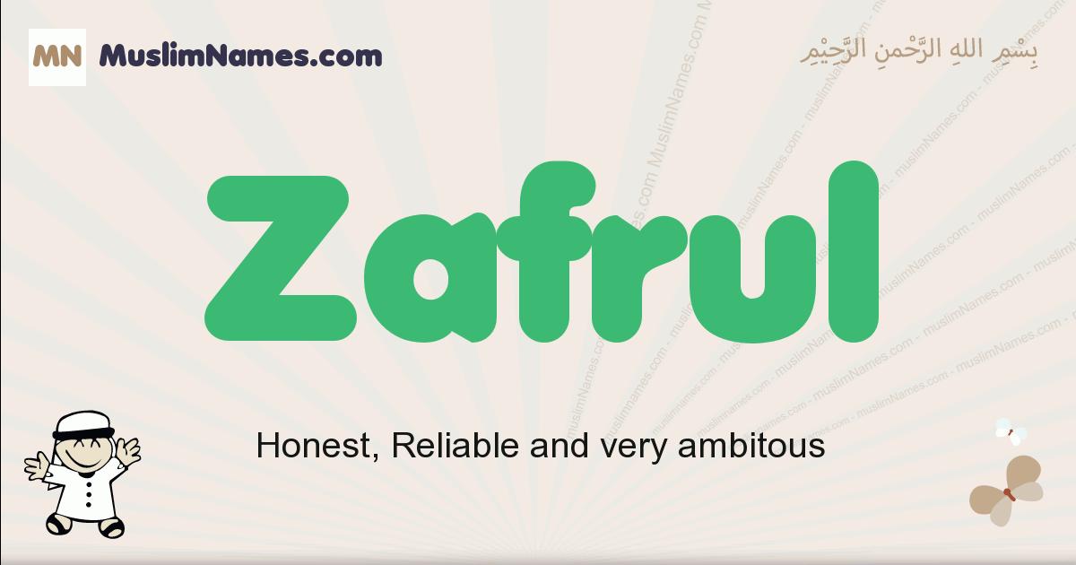 Zafrul muslim boys name and meaning, islamic boys name Zafrul