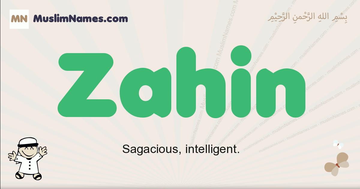 Zahin muslim boys name and meaning, islamic boys name Zahin