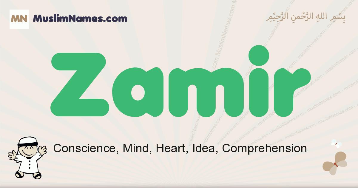 Zamir muslim boys name and meaning, islamic boys name Zamir