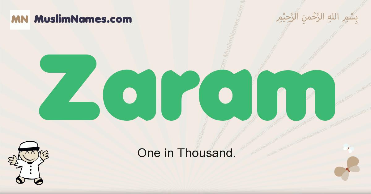 Zaram muslim boys name and meaning, islamic boys name Zaram