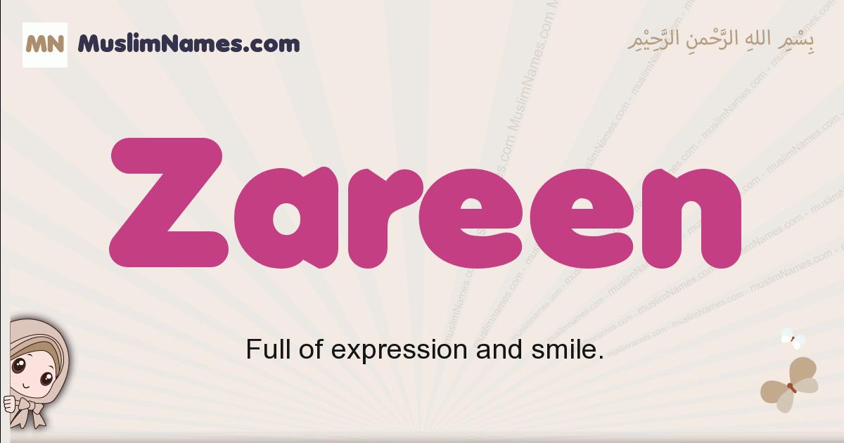 Zareen muslim girls name and meaning, islamic girls name Zareen