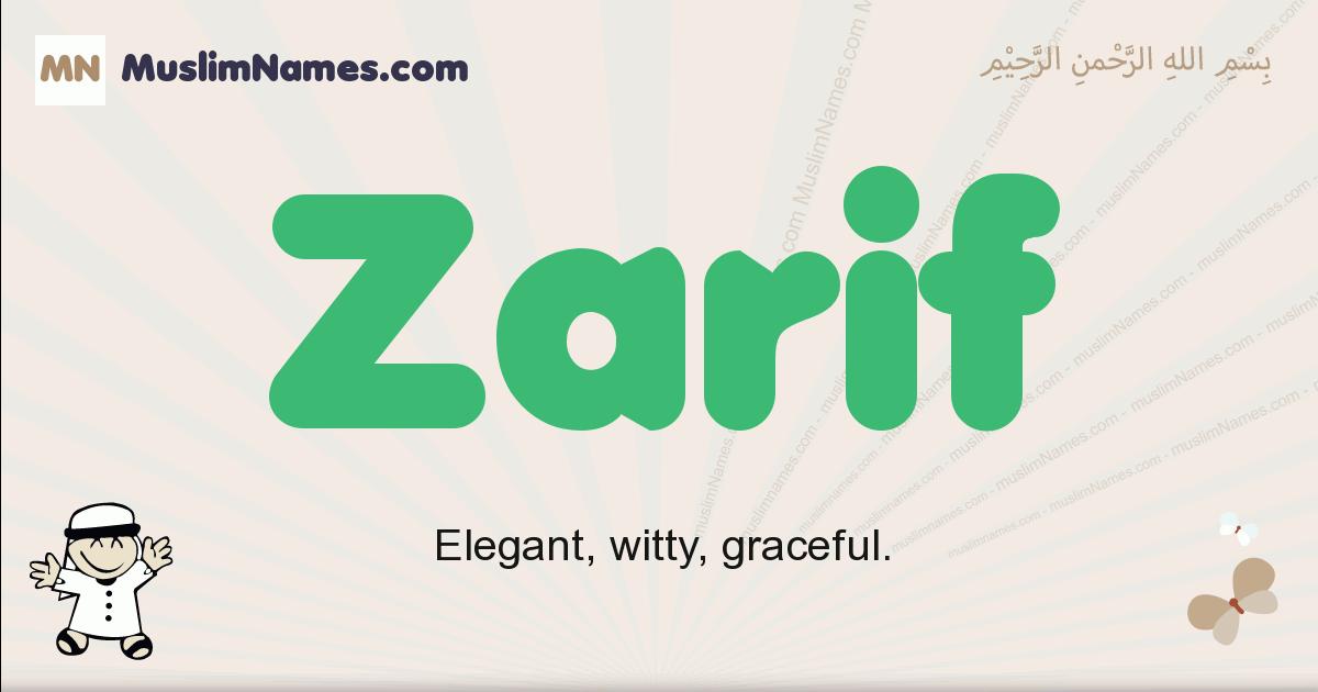 Zarif muslim boys name and meaning, islamic boys name Zarif