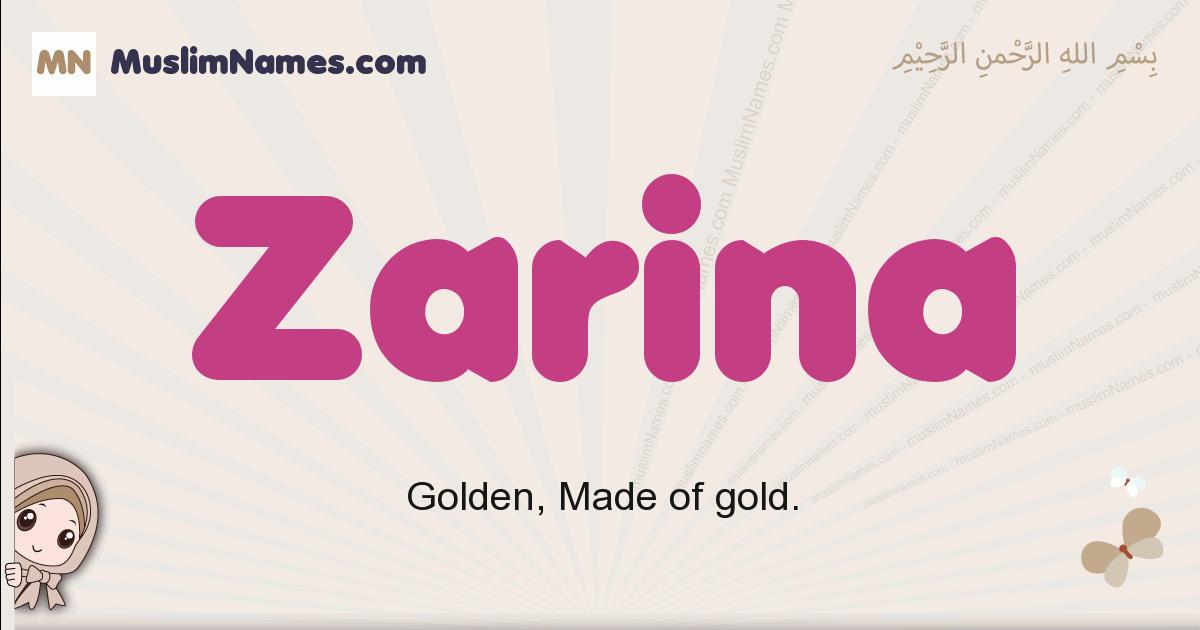 Zarina muslim girls name and meaning, islamic girls name Zarina