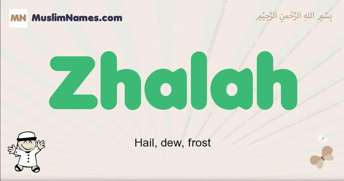 Zhalah muslim boys name and meaning, islamic boys name Zhalah