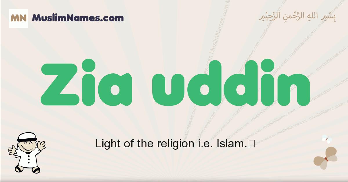 Zia Uddin muslim boys name and meaning, islamic boys name Zia Uddin
