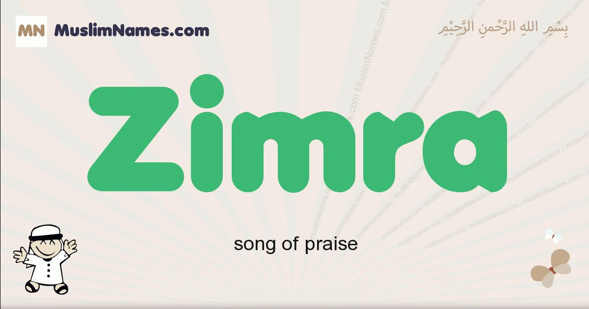 Zimra muslim boys name and meaning, islamic boys name Zimra